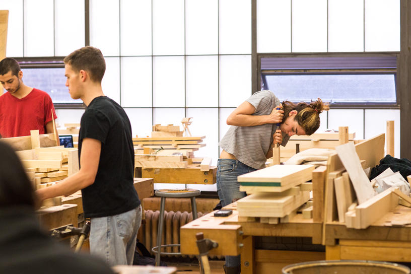 Furniture Design students busy in the studio