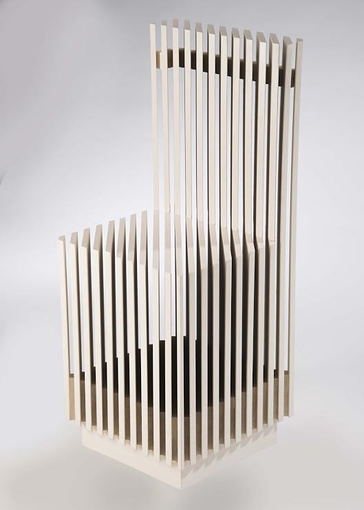 A sculptural chair by Furniture Design graduate alum Xinran Zheng